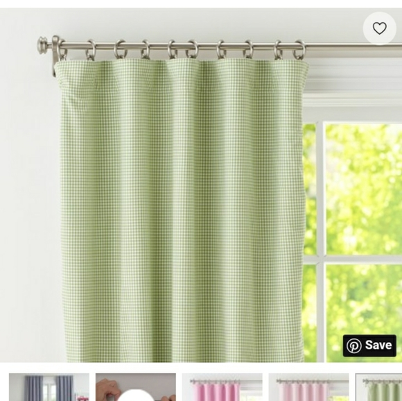 Pottery Barn Kids Gingham Curtain Panels